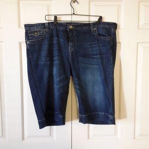 Designer Bermuda Jean shorts
